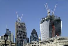 Construction de gratte-ciel à Londres image stock