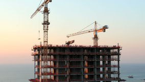 Construction de gratte-ciel. Laps de temps banque de vidéos