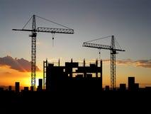 Construction de grue Photographie stock libre de droits