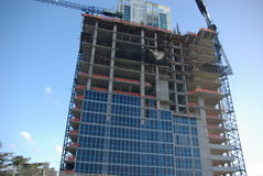 Construction de High Rise Photos libres de droits