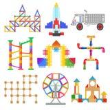 Construction de jouet d'enfants illustration de vecteur