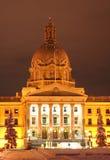 Construction de législature d'Alberta à Noël photos stock