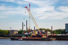 Construction de l'égout superbe de Londres photographie stock libre de droits