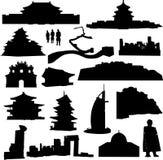 construction de l'Asie connue bien illustration libre de droits