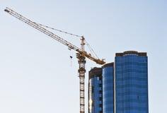 Construction de l'immeuble de bureaux Images libres de droits