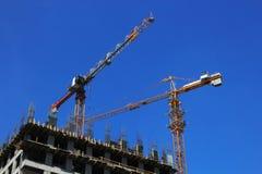 Construction de l'immeuble de bureaux Photos libres de droits