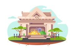 Construction de la banque de ville illustration stock