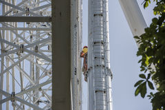 Construction de la grande roue 65 mètres Photographie stock