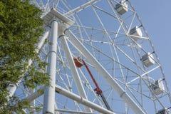 Construction de la grande roue 65 mètres Photographie stock libre de droits