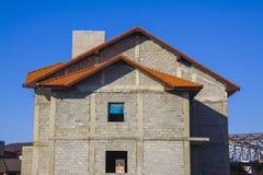 Construction de la maison Photographie stock libre de droits