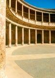 Construction de la Renaissance d'Alhambra à Grenade, Andalousie image libre de droits