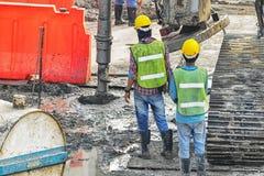 Construction de Large d'ingénieur d'inspection Photo stock