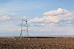 Construction de ligne électrique Images stock