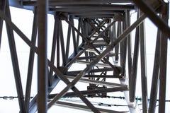 Construction de ligne électrique en métal Image stock