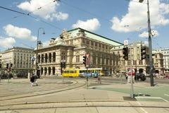 Construction de logements d'opéra à Vienne, Autriche Photos libres de droits
