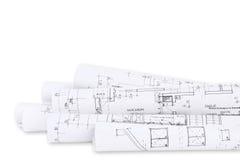 Construction de logements, plans de construction Photo stock