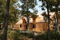 Construction de maison de logarithme naturel Images libres de droits
