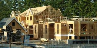 Construction de maison de nouvelle maison photographie stock