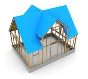 Construction de maison de vue Images stock