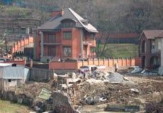 Construction de maison privée photographie stock