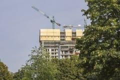 Construction de maisons ayant beaucoup d'étages résidentielles Photographie stock