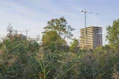 Construction de maisons ayant beaucoup d'étages résidentielles Images libres de droits