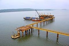 Construction de Marine Structure Photographie stock libre de droits