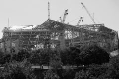 Construction de Mercedes Benz Stadium à Atlanta, GA image stock