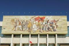 Construction de Musée National, mosaïque, ½ de ¿ de Tiranï, Albanie Image stock