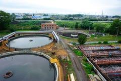 Construction de nettoyage pour un traitement des eaux usées photo libre de droits