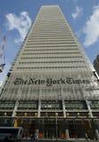 Construction de New York Times photographie stock libre de droits