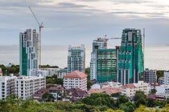 Construction de nouveaux immeubles de luxe à Pattaya Images stock