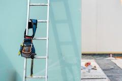 Construction de nouvelle et moderne maison modulaire image stock