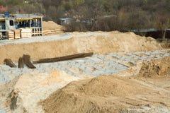 construction de nouvelle maison dans le secteur de ville photographie stock libre de droits