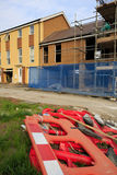 Construction de nouvelles maisons avec barier Images libres de droits