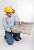 Construction de père et de fils photo libre de droits