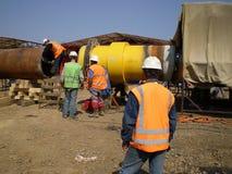 Construction de pétrole et de gazoduc Image libre de droits