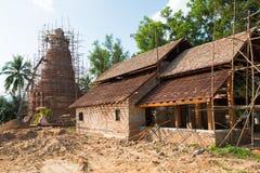 Construction de pagoda dans le nord de la Thaïlande photo libre de droits