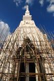 Construction de pagoda dans le temple de la Thaïlande images stock