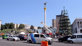 Construction de pin démontant à Kiev, Ukraine, Image stock