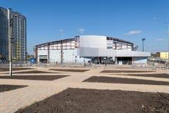 Construction de piste d'intérieur de formation Photographie stock