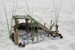 Construction de plage Photographie stock