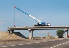 Construction de pont Photographie stock