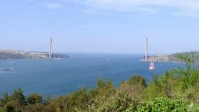 construction de pont d'Istanbul troisième banque de vidéos
