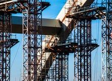 Construction de pont en fer Photographie stock libre de droits