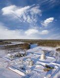 Construction de raffinerie Photos stock