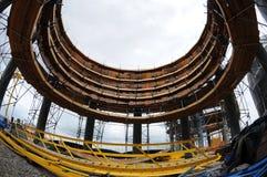 Construction de raffinerie de pétrole Petrobras photos libres de droits