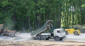 Construction de route Images libres de droits