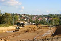 Construction de route neuve Image stock