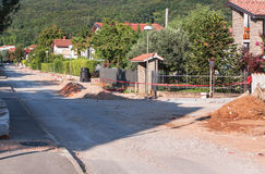 Construction de routes Photos libres de droits